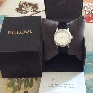 Bulova Stainless Steel Men's Watch NWT